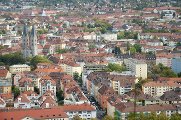 The Beautiful Cityscape of Wuerzburg, Germany in Autumn