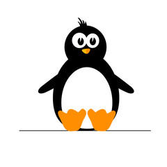 penguin color vector illustration