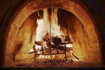 Poster Pixel Log Fire