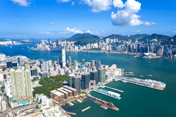 Hong Kong skyline at day