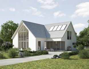 Einfamilienhaus  zeichnung