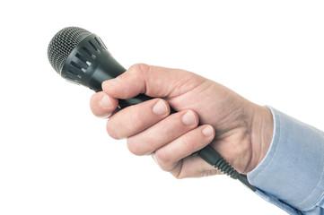 Microfono in mano