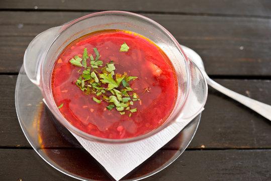 beet soup (borscht)