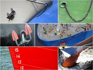 Collage mit maritimen Details