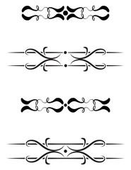 Four vintage decoration design elements