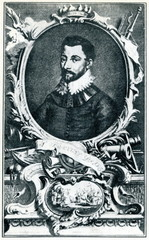 Francis Drake, english vice admiral and privateer