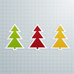 Colored Fir-Trees. Set One