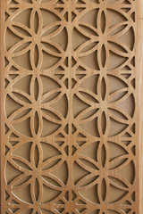 Wooden flower pattern