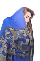 Arabian women, white background