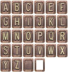 Fototapete - Metal letters