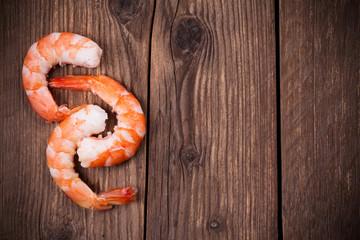 Zelfklevend Fotobehang Schaaldieren tiger shrimps