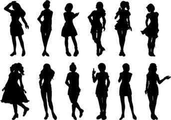 様々なファッションの女性