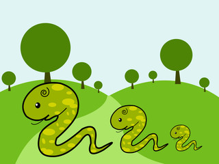Illustration of cute Snake