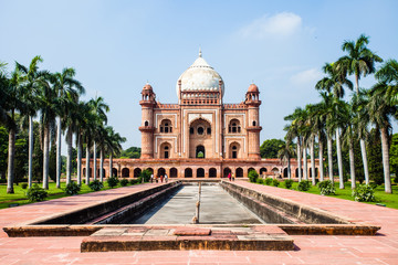 Safdarjung's Tomb in a marble mausoleum in Delhi, India