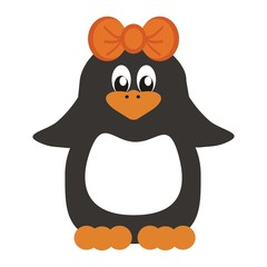 nice penguin on white background