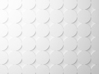 Abstract white background texture with round pattern