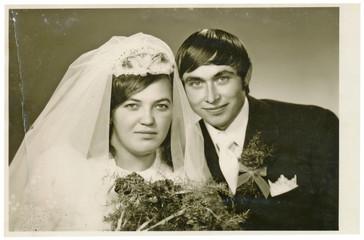 The bride and groom - circa 1970