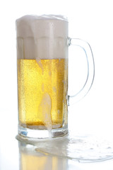 Foamy mug of beer
