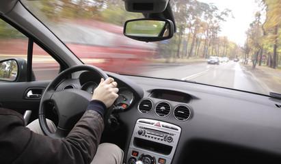 Fototapete - fast driving