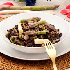 risotto con asparagi freschi