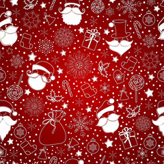 red abstract background with snowflake