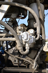 Multiple Hydraulic Hoses  of concrete mixer