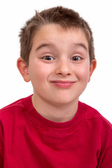 Mischievous Kid Giving Pernickety Look