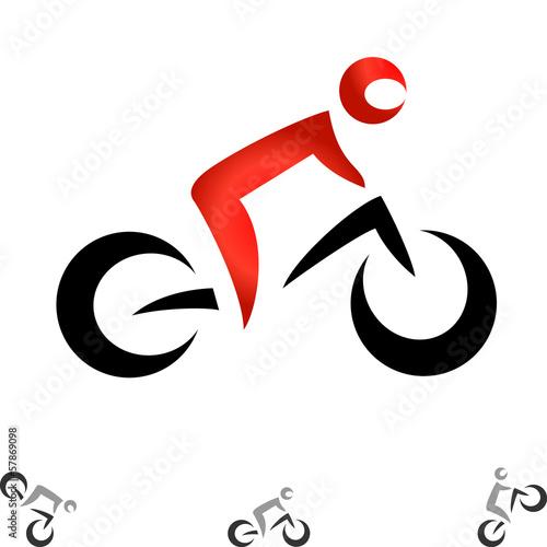 Wall mural Fahrrad - Logo