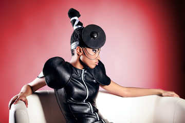 Beautiful fashion african woman