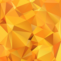 Abstract gold orange background polygon. Geometric backdrop.