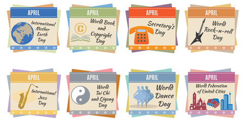 World holidays. April