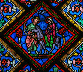 Wall Mural - Holy Family - Nativity stained glass