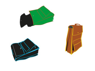 Office- school -colored bags