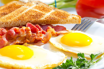 Aluminium Prints Egg Continental breakfast.