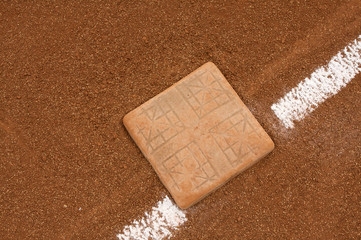 Baseball Base and Chalk Line