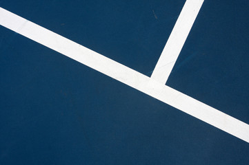Modern Blue Tennis Court Lines for Background