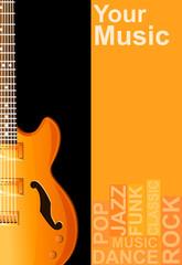 guitar, vector illustration