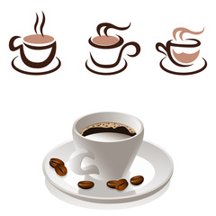Kaffee - icon set
