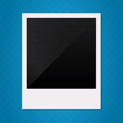 Blank retro polaroid photo frame illustration.