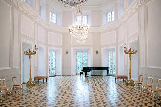 Sights of Warsaw. Luxury ballroom.