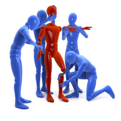 Bausatz, Figuren bauen, reparieren im Team eine Figur