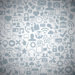 Socia media web icons vector background