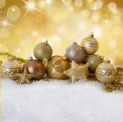 golden stars at christmas