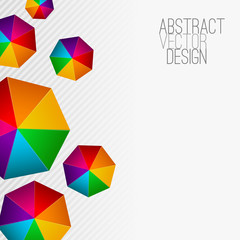 Heptagon Modern abstract colorful background