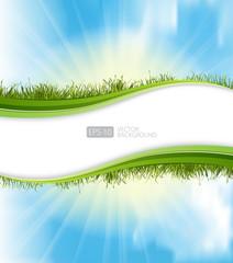 Summer grass banners