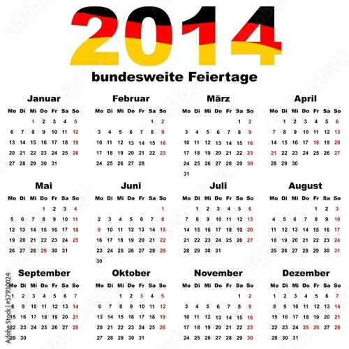 kalender 2014 deutschland bundesweite feiertage. Black Bedroom Furniture Sets. Home Design Ideas