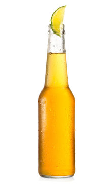 bottle of beer with lime