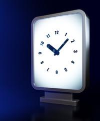 Time concept: Clock on billboard background