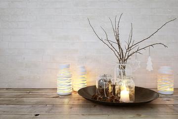Dekoration mit Windlicht - nice christmas time decoration