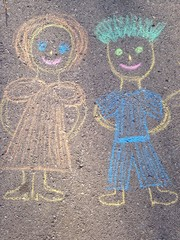 chalk drawing family
